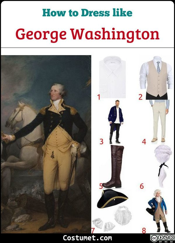 George Washington Costume for Cosplay & Halloween