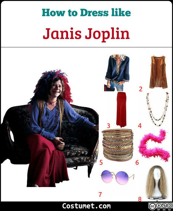 Janis Joplin Costume for Cosplay & Halloween
