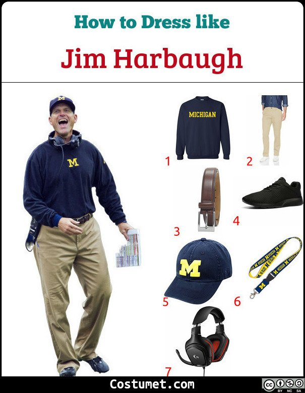 Jim Harbaugh Costume for Cosplay & Halloween
