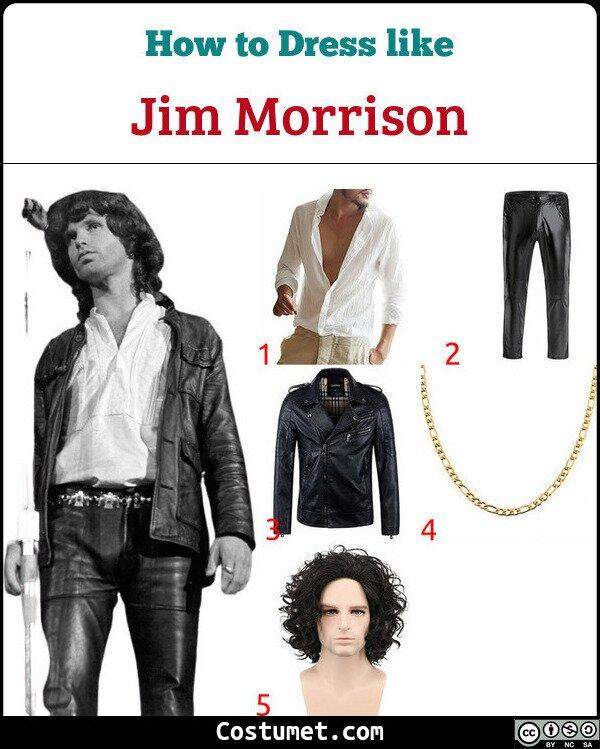 Jim Morrison Costume for Cosplay & Halloween