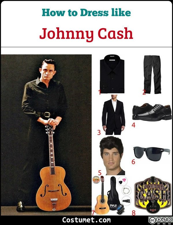 Johnny Cash Costume for Cosplay & Halloween