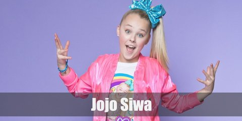 Jojo Siwa is best known for her colorful style and fashion. Cop her look with a color blocked top, a jacket, and a bright skirt. Pair it with vibrant sneakers and a bir hair bow.