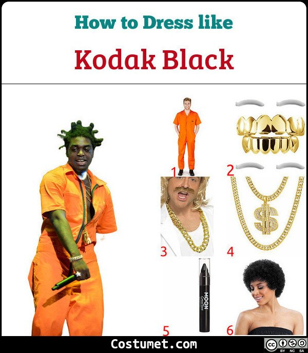 Kodak Black Costume for Cosplay & Halloween