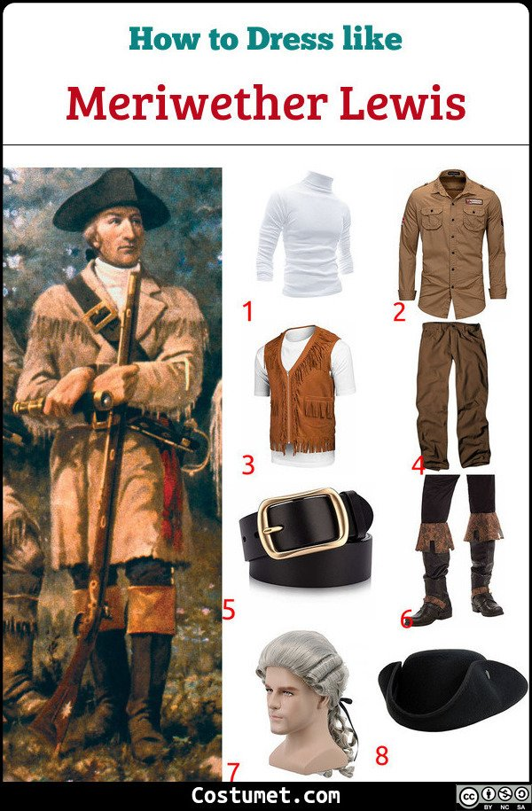 Meriwether Lewis Costume for Cosplay & Halloween