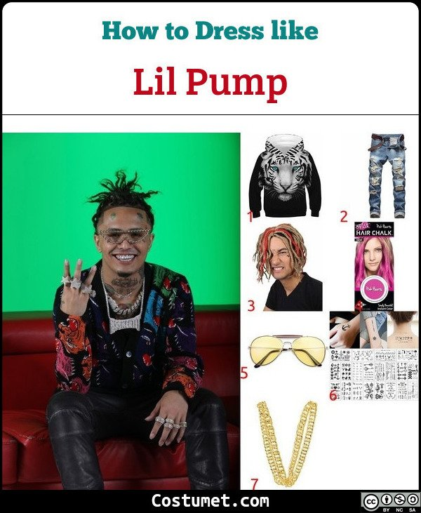 Lil Pump Costume for Cosplay & Halloween
