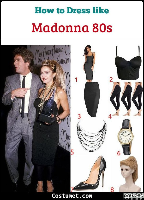 Madonna 80s Costume for Cosplay & Halloween
