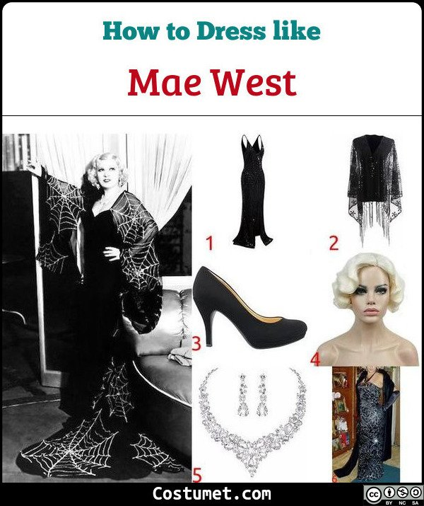 Mae West Costume for Cosplay & Halloween