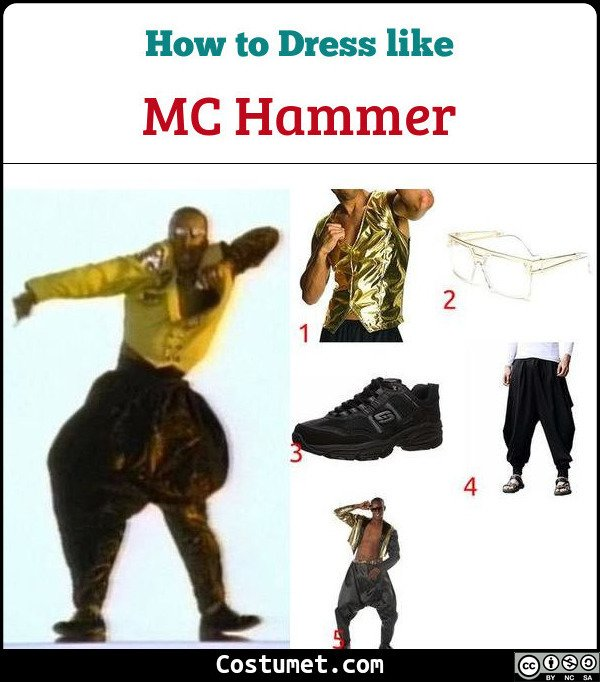 Mc Hammer Costume for Cosplay & Halloween