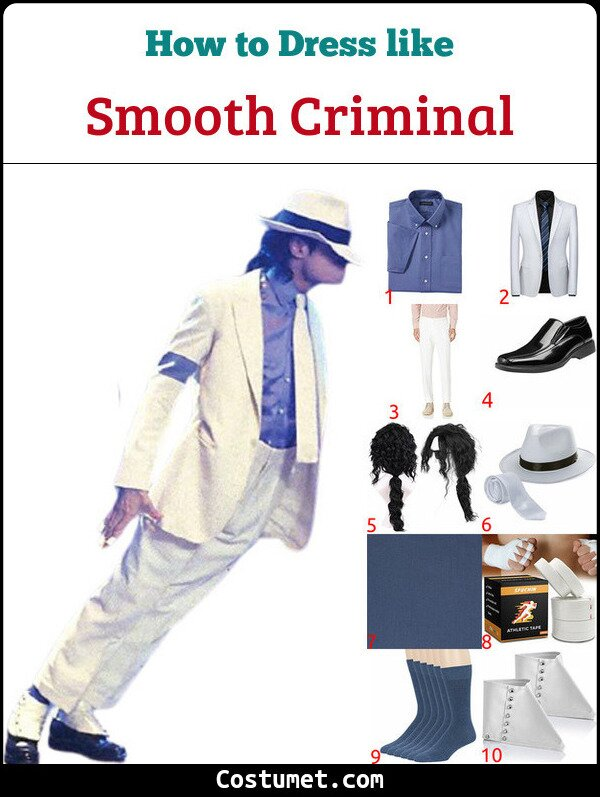 Smooth Criminal Costume for Cosplay & Halloween