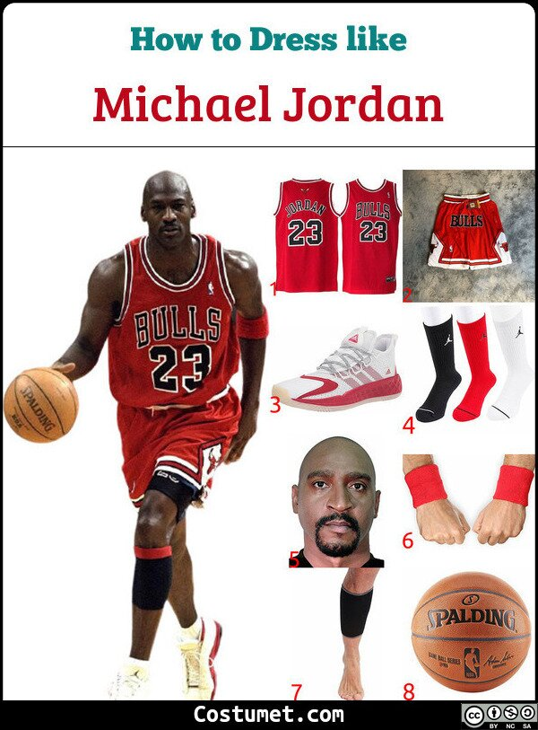 Michael Jordan Costume for Cosplay & Halloween
