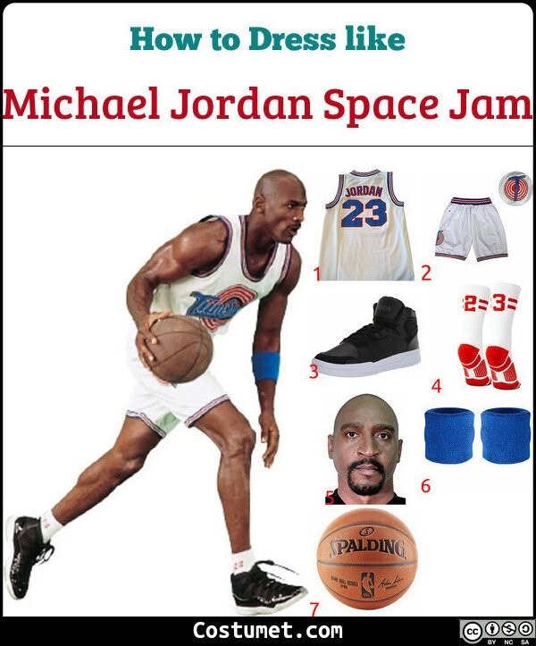 Michael Jordan Space Jam Costume for Cosplay & Halloween