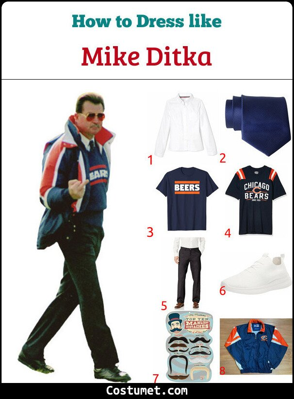 Mike Ditka Costume for Cosplay & Halloween