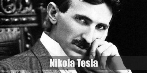 Nikola Tesla's costume is a clean and crisp suit ensemble from the early 1900s partnered with clean styled hair and mustache. Nikola Tesla is a well-known engineering genius and inventor.