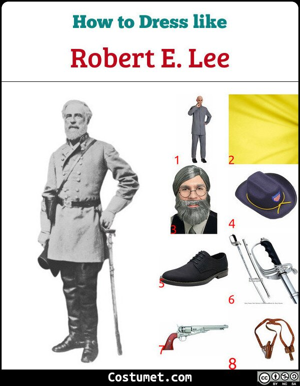 Robert E. Lee Costume for Cosplay & Halloween