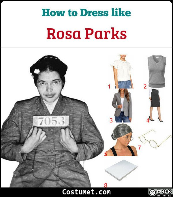 Rosa Parks Costume for Cosplay & Halloween