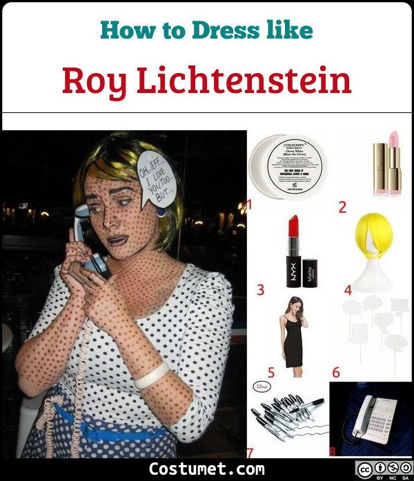 Roy Lichtenstein Costume for Cosplay & Halloween