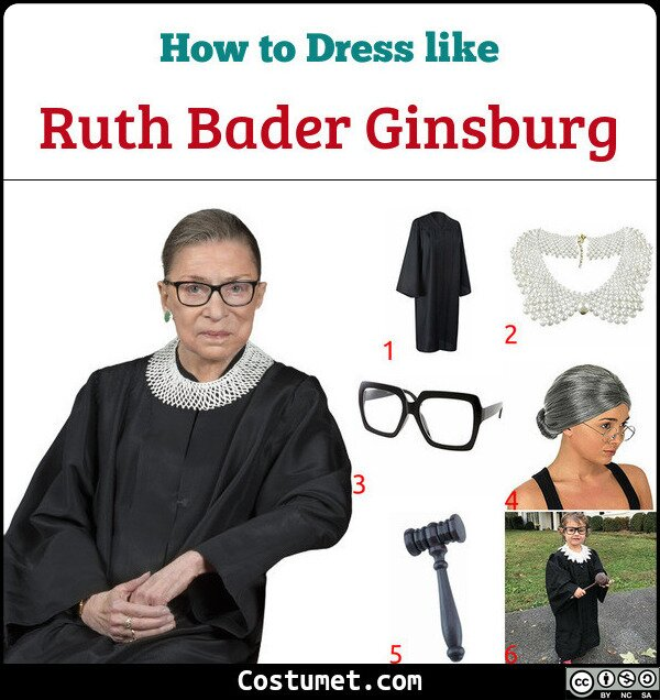 Ruth Bader Ginsburg Costume for Cosplay & Halloween