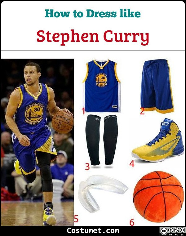 best service 6fb09 4496d Stephen Curry (NBA) Costume for Halloween 2019