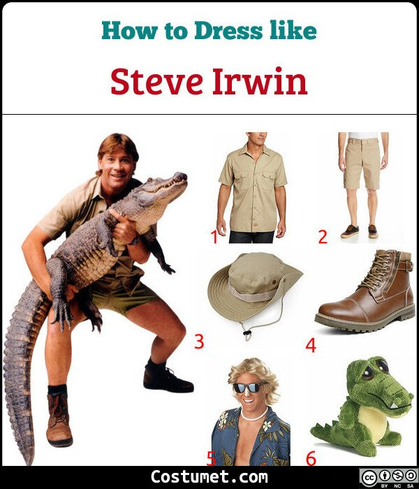 Steve Irwin Costume for Cosplay & Halloween