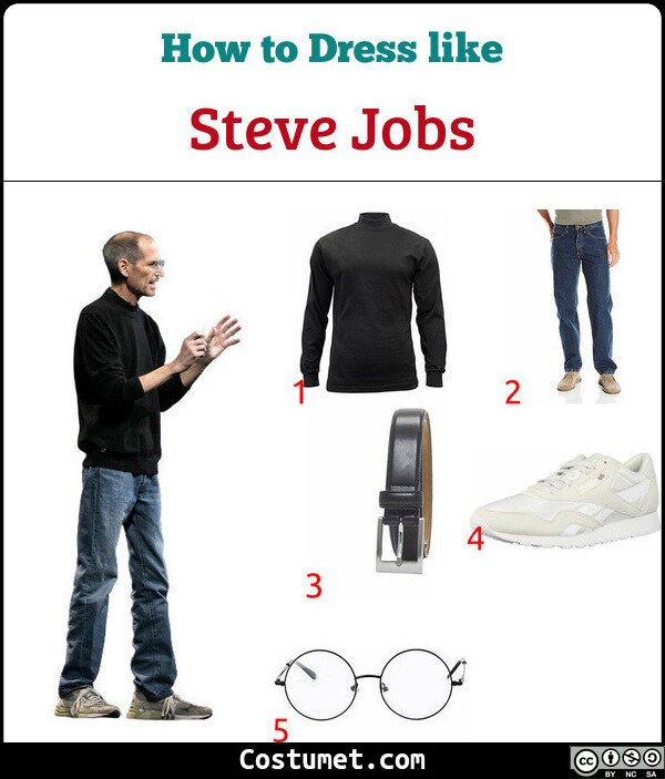 Steve Jobs Costume for Cosplay & Halloween