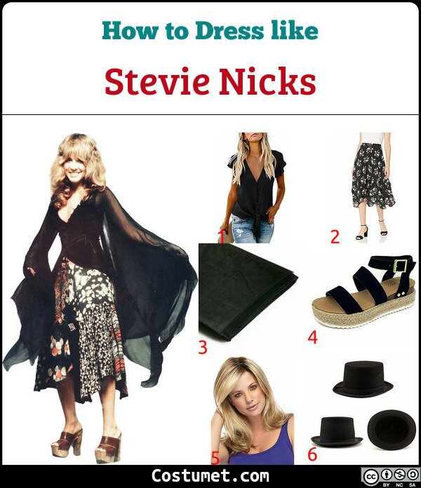 Stevie Nicks Costume for Cosplay & Halloween