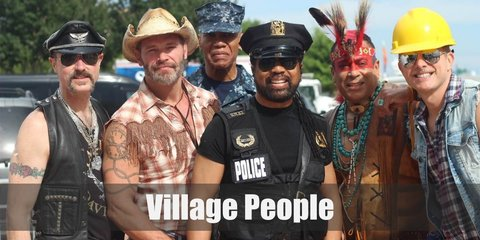 It's super easy to look like the Village People so you're group of guy friends can totally copy them. Just look for a cowboy, a cop, an Native American chief, a biker, a construction worker, and a GI. Put them altogether and you're good to go!