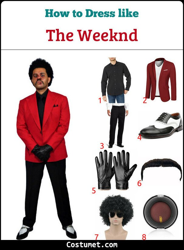 The Weeknd Costume for Cosplay & Halloween