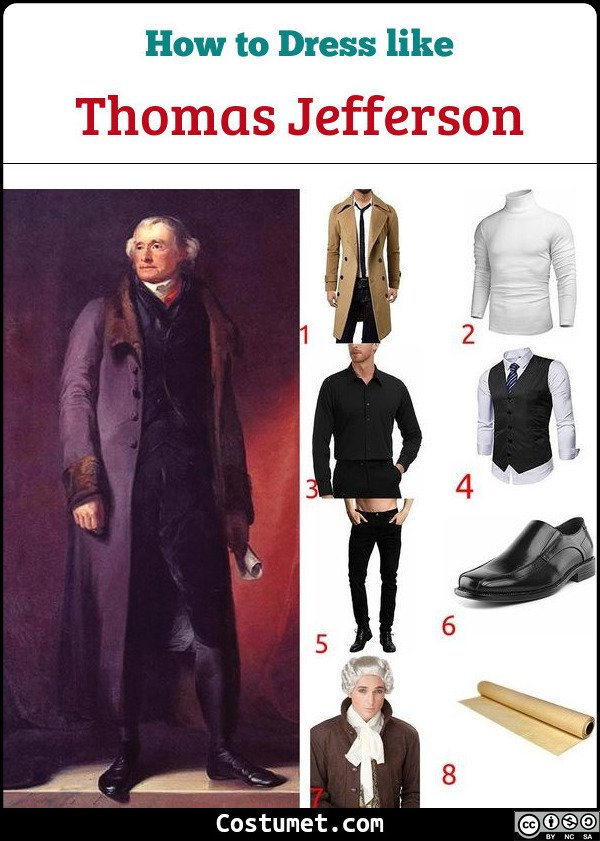 Thomas Jefferson Costume for Cosplay & Halloween