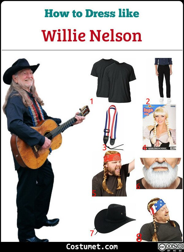 Willie Nelson Costume for Cosplay & Halloween