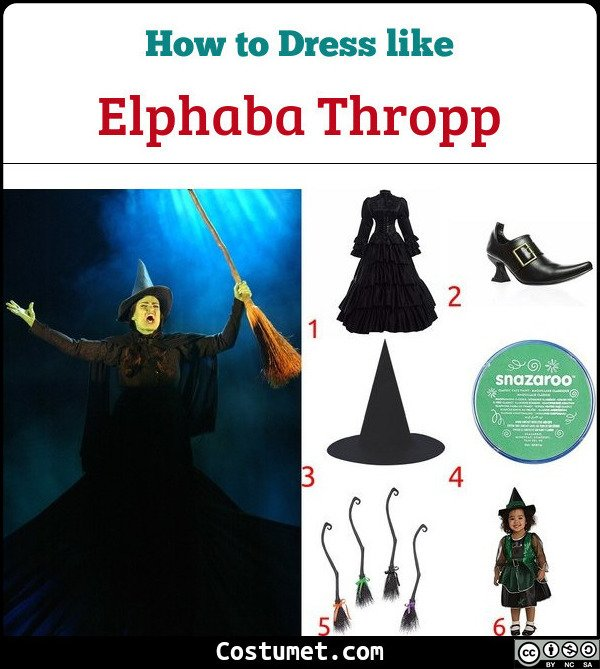 Elphaba Costume for Cosplay & Halloween