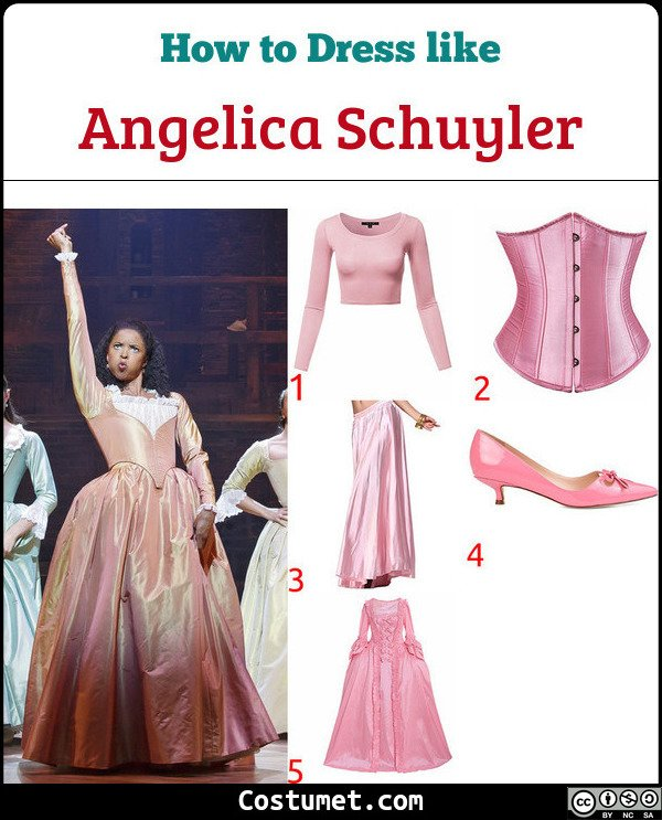 Angelica Schuyler Hamilton Costume for Cosplay & Halloween