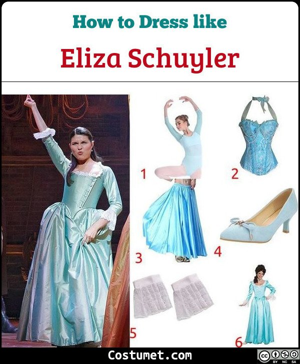 Eliza Schuyler Hamilton Costume for Cosplay & Halloween
