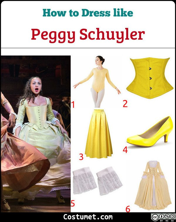 Peggy Schuyler Hamilton Costume for Cosplay & Halloween