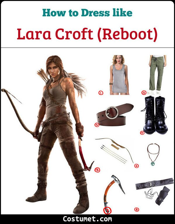 New Lara Croft Costume for Cosplay & Halloween