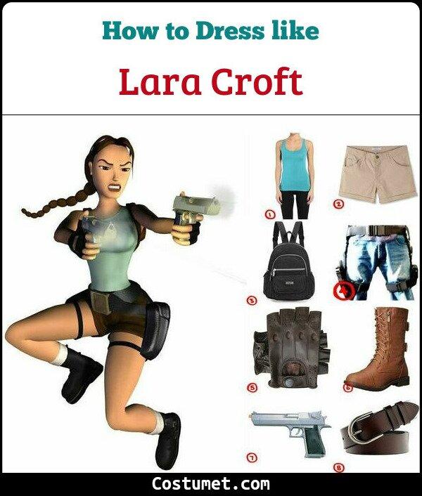 Dress Like Lara Croft 1990s From Tomb Raider Costume For Cosplay