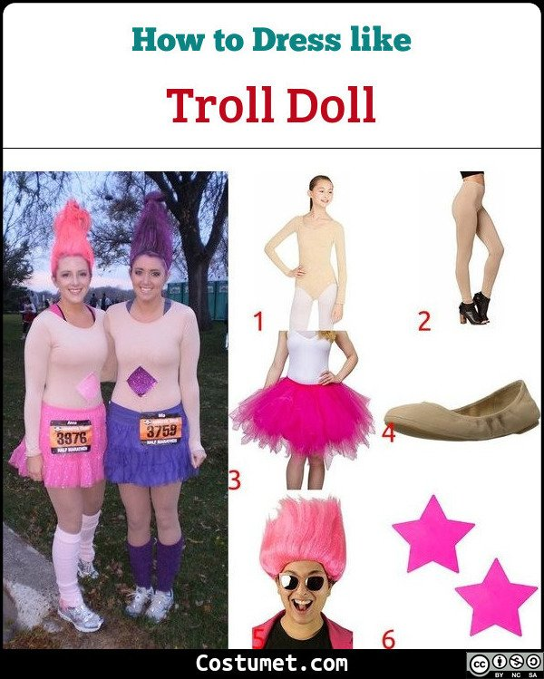 Troll Doll Costume for Cosplay & Halloween