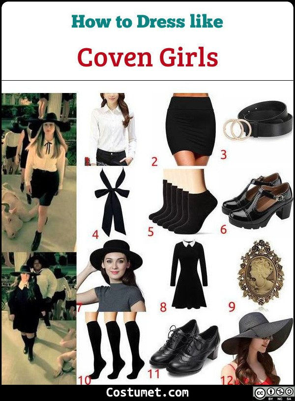 Coven Girls Costume for Cosplay & Halloween