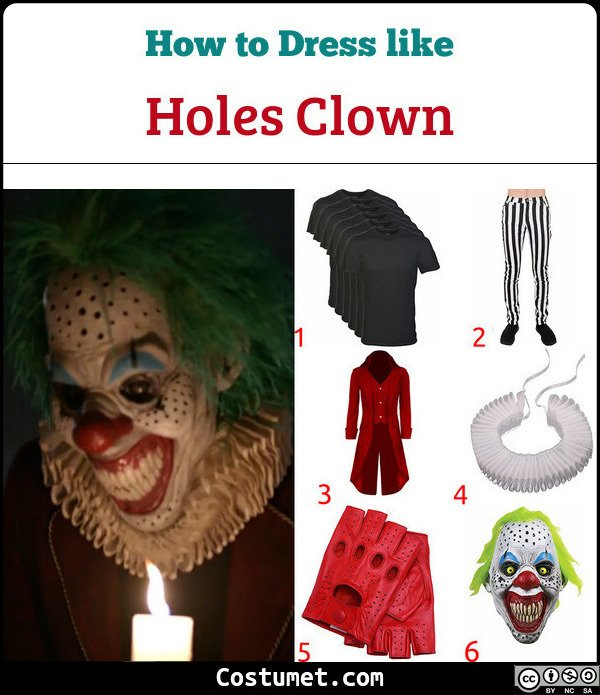 AHS Cult Holes Clowns Costume for Cosplay & Halloween
