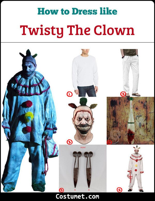 Twisty The Clown Costume for Cosplay & Halloween