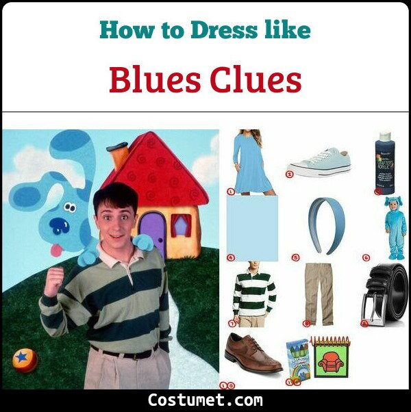Blues Clues Costume for Cosplay & Halloween