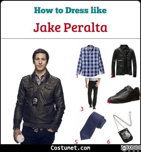 Jake Peralta Costume for Cosplay & Halloween