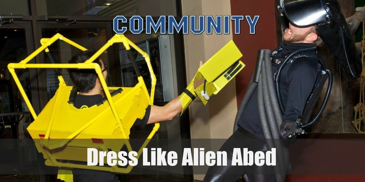 Abed's Alien Costume from Community for Halloween 2019
