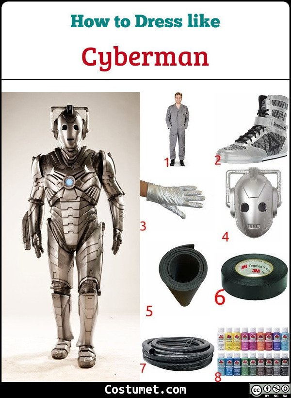 Cyberman Costume for Cosplay & Halloween