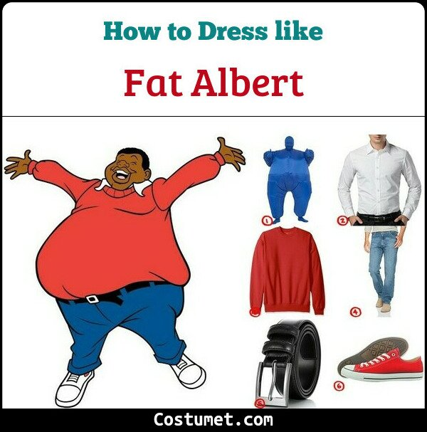 Dress Like Fat Albert Costume For Cosplay Halloween