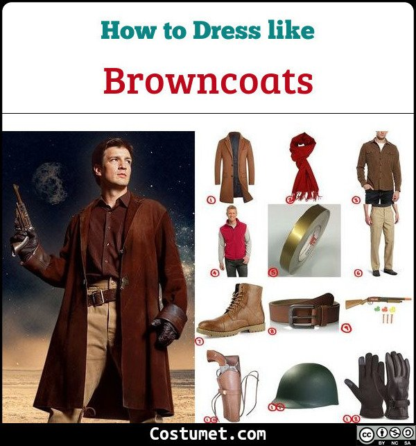 Browncoats Costume for Cosplay & Halloween