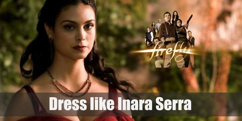 Inara Serra costume has a certain style where she's always chooses to wear gowns and the color she often picks is red