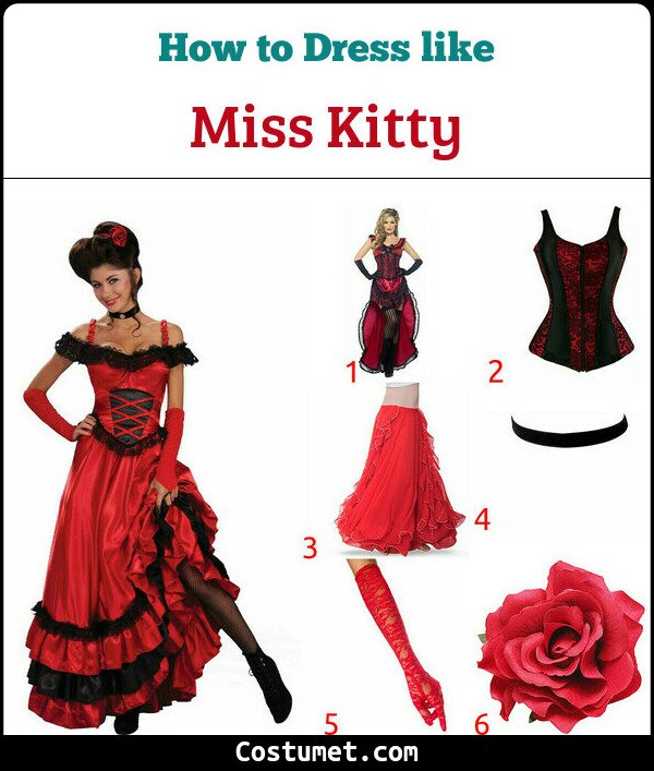 Miss Kitty Costume for Cosplay & Halloween