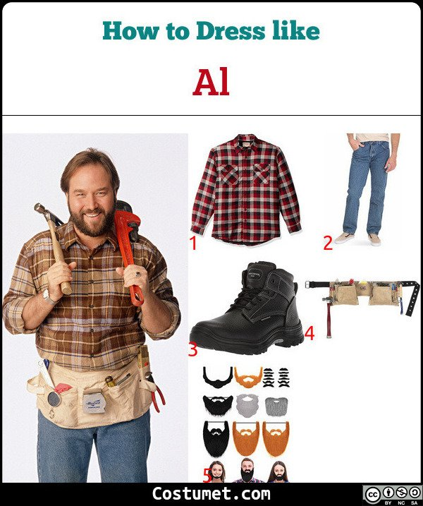 Al (Home Improvement) Costume for Cosplay & Halloween