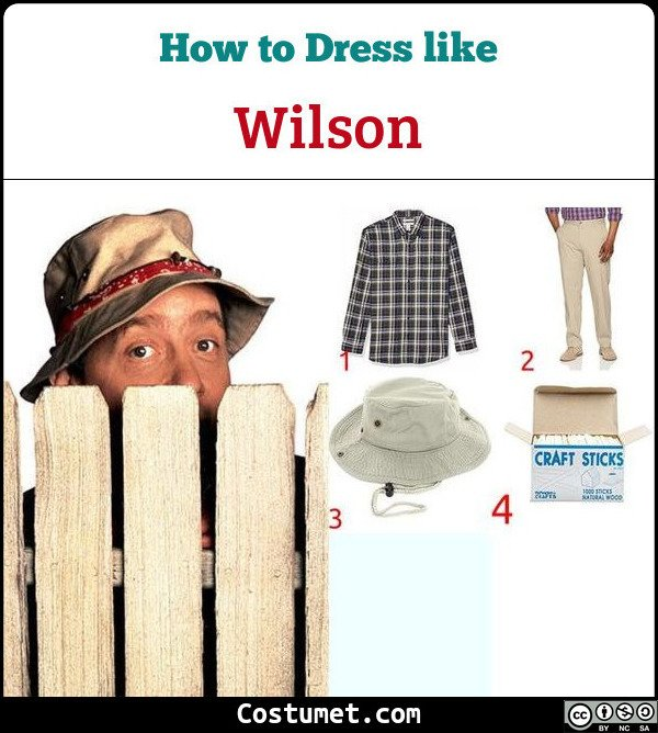 Wilson (Home Improvement) Costume for Cosplay & Halloween