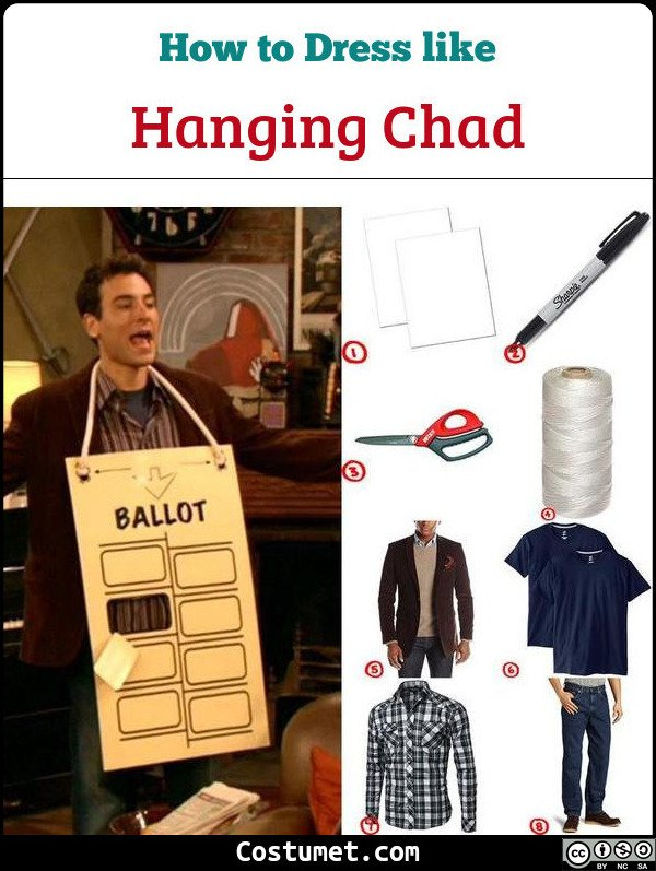 Hanging Chad Costume for Cosplay & Halloween